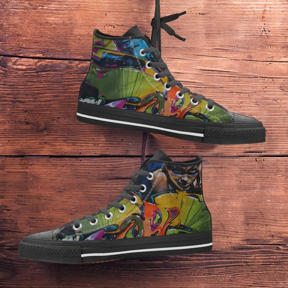 Graffiti Art color baskets Hightop moderne formateurs Chaussures Sneaker de Art toile gznOq5qw