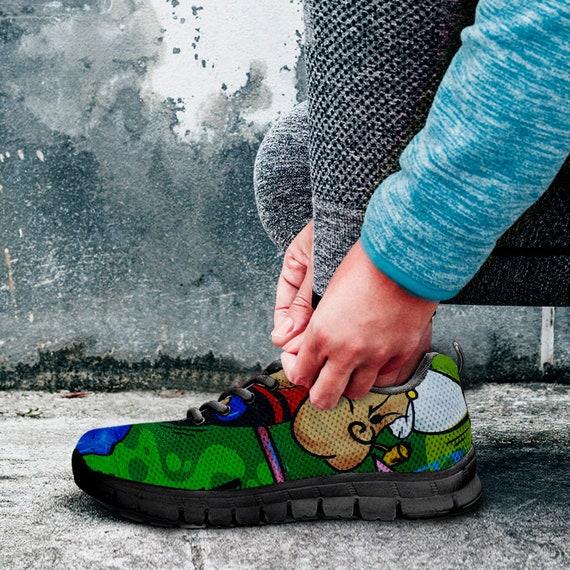 formateurs Art Popeyes color baskets de graffiti Sneaker Chaussures Art 7Xqt16gnnx