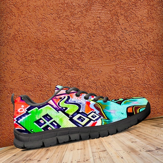 Sneakers ladies Colourful Trainers Modern Graffiti Kids Sneaker Style Shoes sizes amp; Art Art Men's Ifpxvqw
