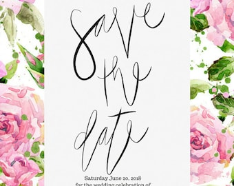 Save The Dates | Digital Invitation | Printable