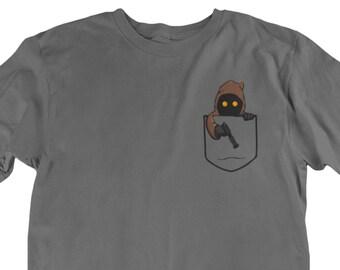 8395d625 Jawa Pocket Star Wars Movie Character Fan Tee Unisex fit T-Shirt