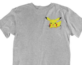 169be3c8 Pikachu Pocket Pokemon Character Gamer Fan Tee Unisex fit T-Shirt