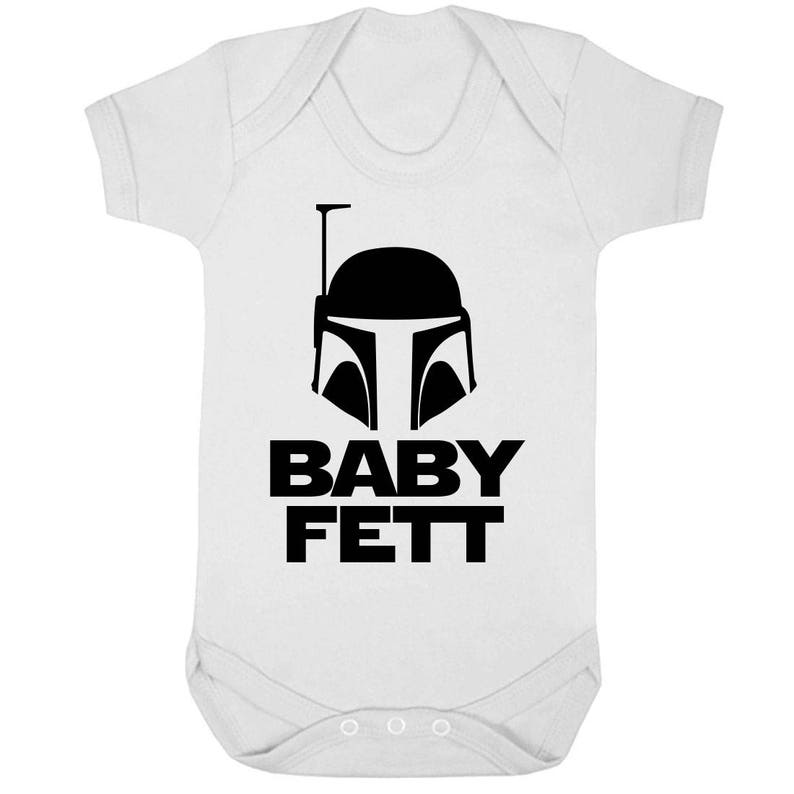 BABY FETT White Baby Grow Sizes Newborn to infant White Bodysuit Vest Short Sleeve