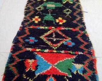 """Moroccan vitage runner rug""""berber runner rug""""marokkanischer Teppich 260-96 cm"""