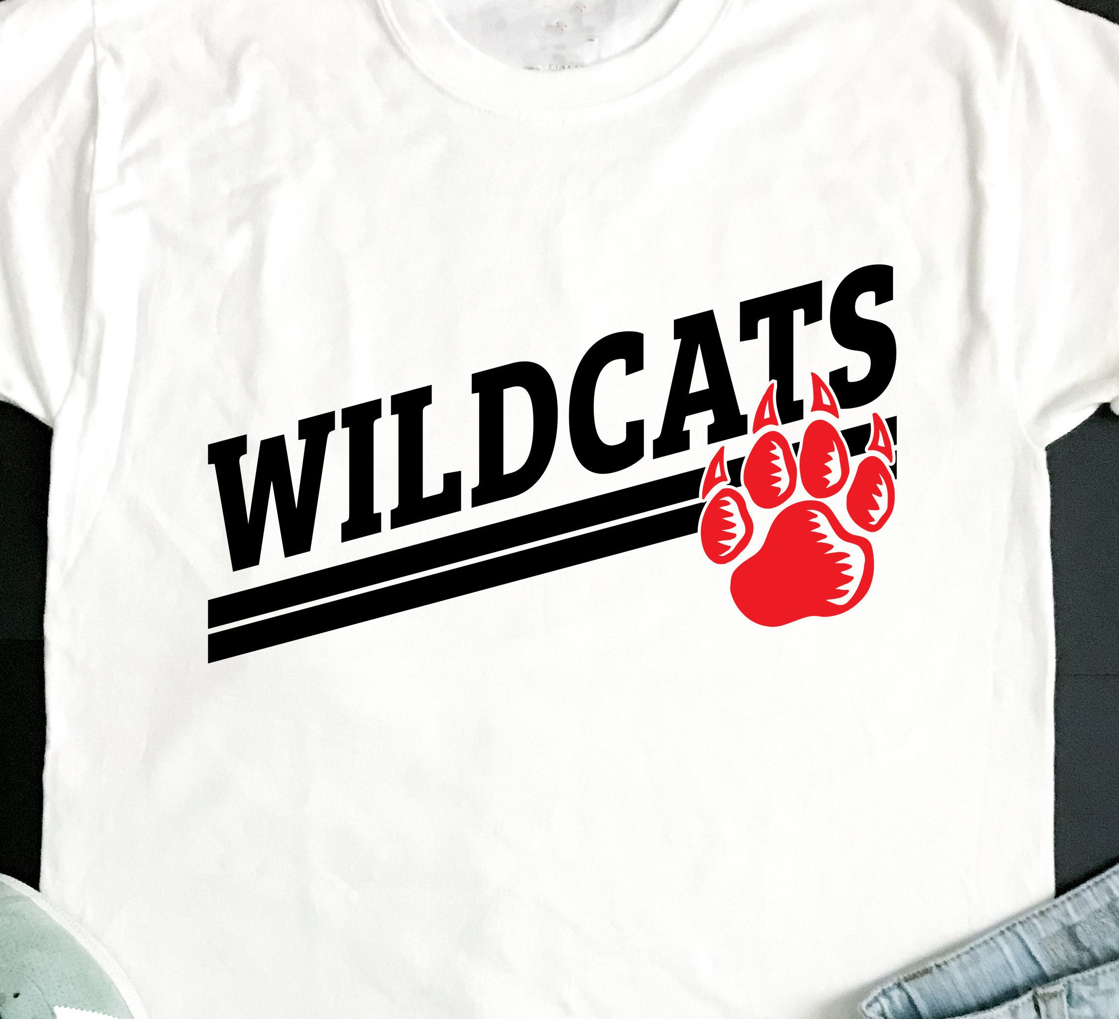 Wildcats Svg Football Svg Wildcats T Shirt Design Wildcats Etsy