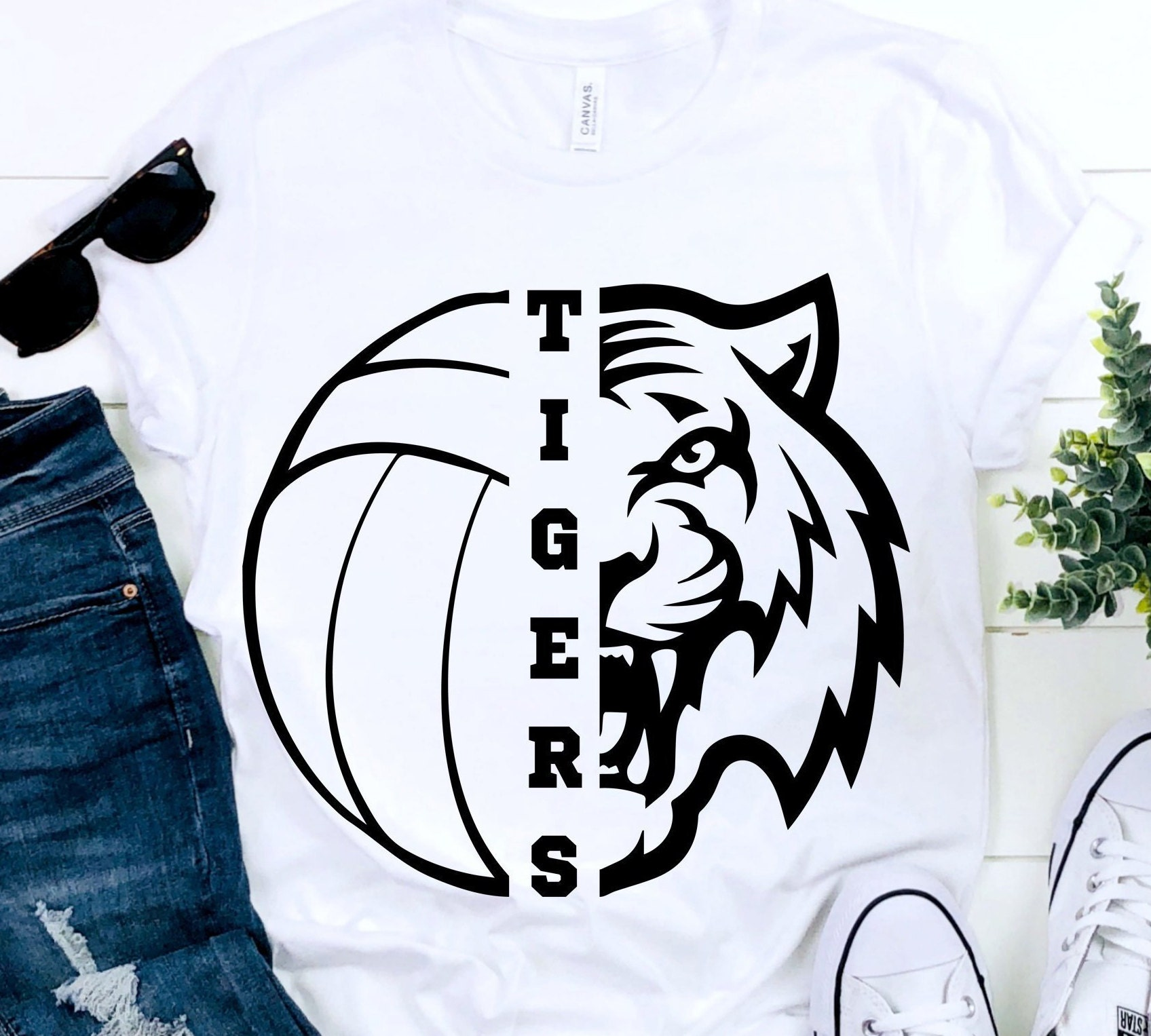 Tigers Svg Volleyball Svg Tigers Volleyball T Shirt Design Etsy