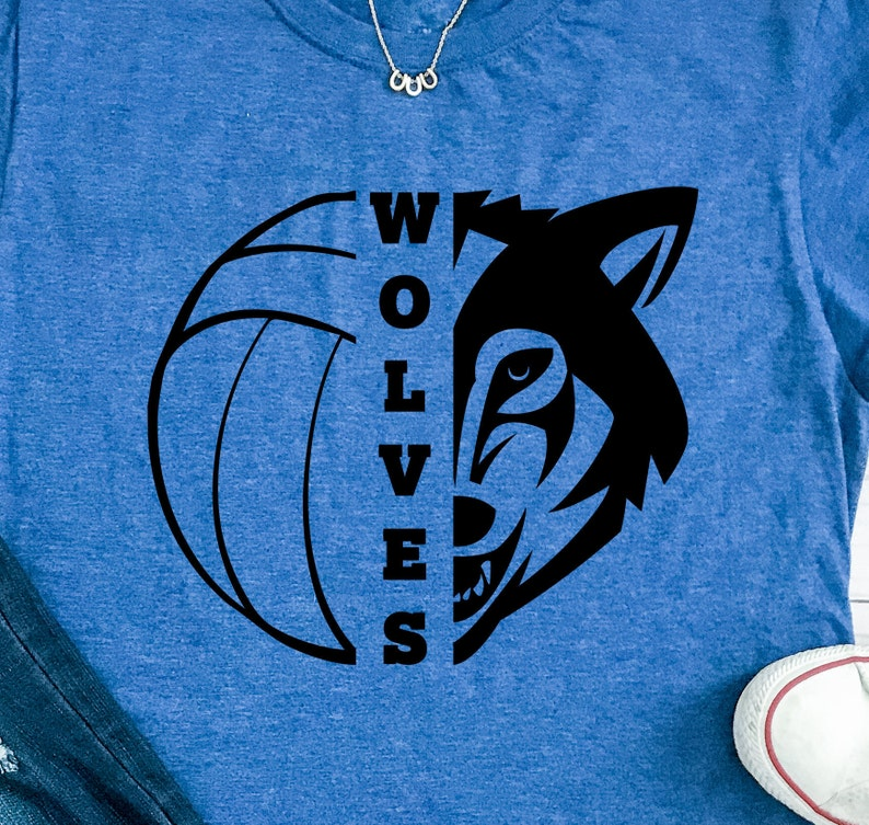6c41d8a84 Wolves SVG Volleyball SVG Wolves Volleyball T-shirt Design | Etsy