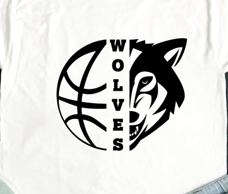 9b346c9e2 Wolves SVG Basketball SVG Wolves Basketball T-shirt Design | Etsy