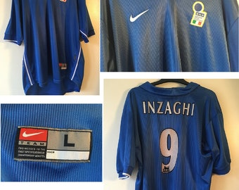 deccf66a0 Italy1997-1998 World Cup football shirt - Inzaghi Number 9