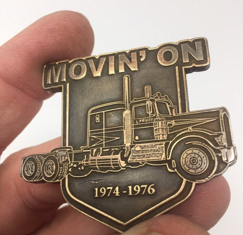 Movin On Kenworth TV Badge Pin officially licensed 100/% solid brass master badge KW
