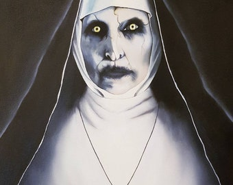 The Nun (The Conjuring 2) Original Oil Painting
