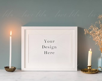 Download Free White Frame Stock Photo | Styled Frame Mockup | High Quality Stock Photography | A4, 12x8