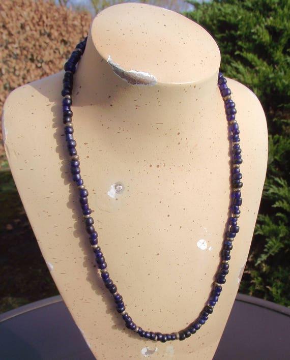 1930s  handmade black Beads VEST  size small to medium