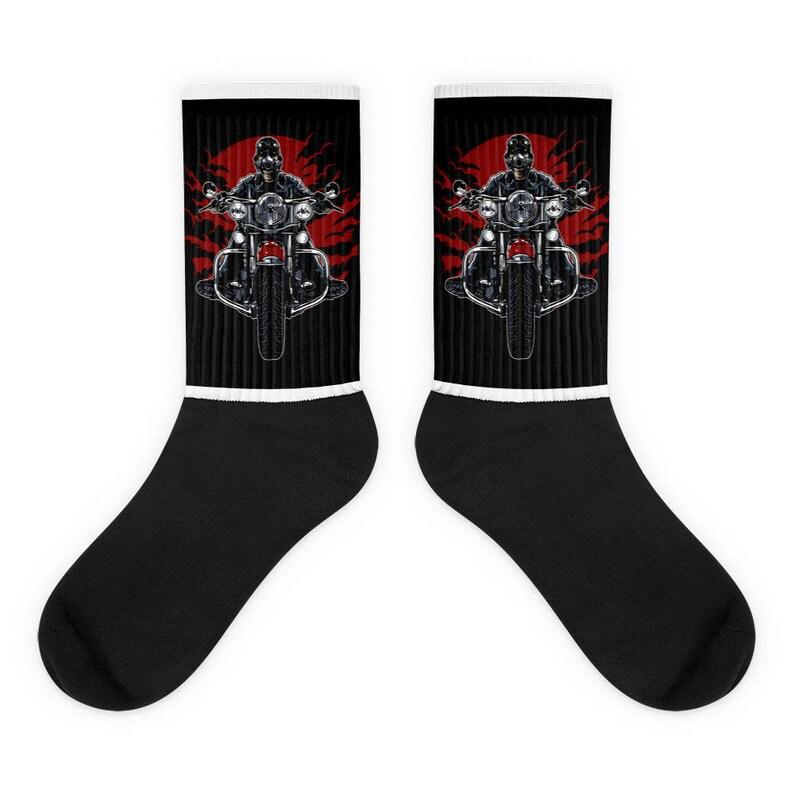 Biker Socks MotorCycle Socks MotorCycle,Socks,Graphic Socks,Great Gift Socks Rider Socks