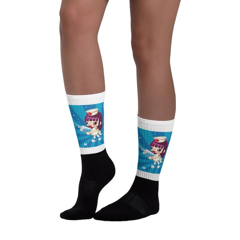 Nurse Socks Graphic Animated Art Graphic Socks,Great Nurse Gift Socks, Socks