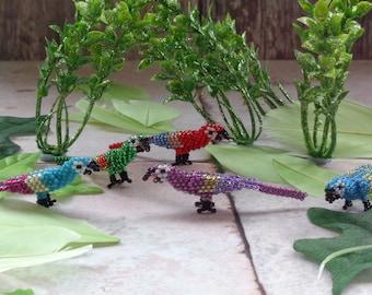 Miniature 3D beaded Parrot