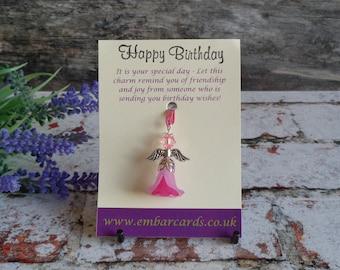 Happy Birthday Fairy charm, Birthday gift
