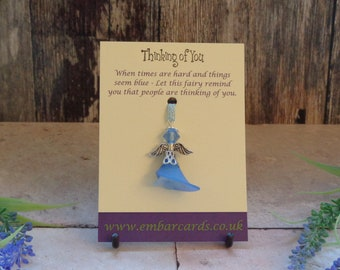 Thinking of you Fairy charm, get well soon/sympathy gift
