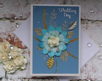 Floral Wedding card, Congratulations on your Wedding Day