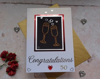 Congratulations 50th Golden Wedding Anniversary Card