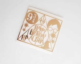 Personalised Harry Potter Card