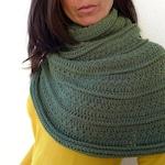 Patrón de cuello-capa LENA de crochet. Tutorial en PDF.
