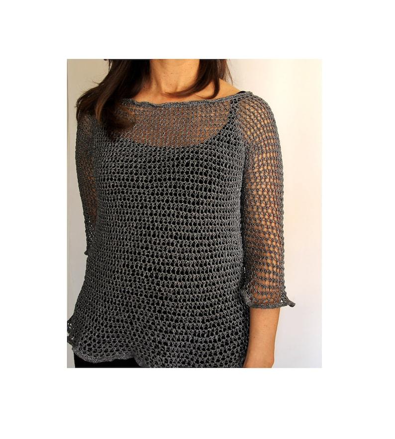 Patrón de LADY MARIAN Top de crochet. PDF tutorial de image 0