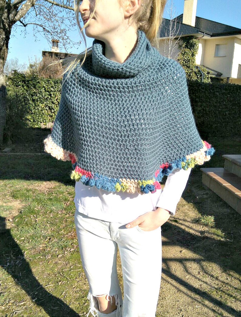 Patrón Capelet de crochet para principiantes. PDF tutorial de image 0