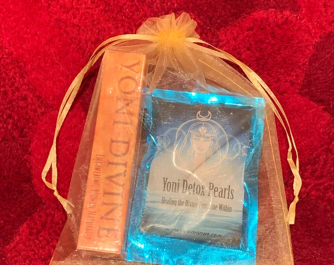 Featured listing image: Yoni Divine Self Care Bundle ~ Yoni Pearls ~ Yoni Wand ~ Divine Feminine Medicine ~ Priestess Wisdom ~ Aquarian Womens Wellness