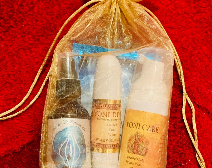 Featured listing image: YONI DIVINE Self Care Bundle ~ Yoni Pearls ~ Yoni Wand ~ Yoni Wash - Divine Feminine Medicine ~ Priestess Wisdom ~ Aquarian Womens Wellness