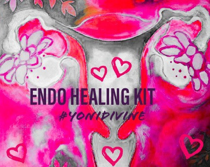 Featured listing image: ENDO HEALING Kit ~Divine Feminine Medicine ~ Endo Relief ~ Womb Wellness  ~  Empowering Women Naturally ~ Endo Warrioress ~ Self Care