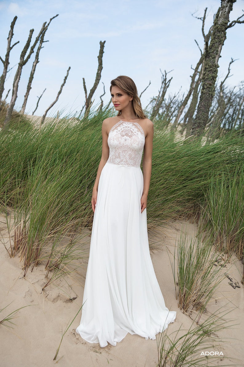 Wedding Dress Lace Lace Beach Wedding Dress 2019