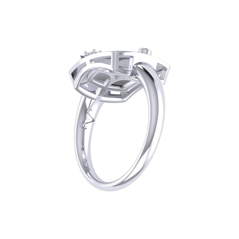 Aries Ram Constellation Signet Ring in Sterling Silver