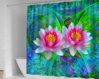 Flower Shower Curtain Lotus Awesome Gift For Lovers