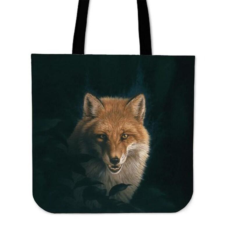 Awesome gift for fox lovers. Fox Linen Tote Bag Fox bag Fox Bag