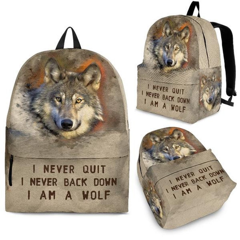 Wolf Bag Wolf backpack Backpack Wolf gift idea Backpack for wolf lovers