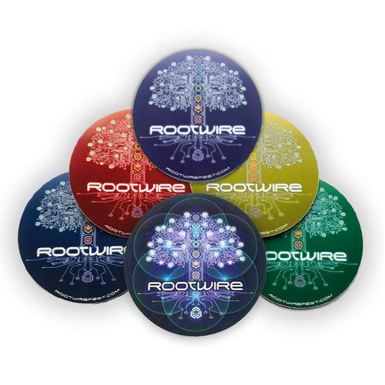 Rootwire Logo Vinyl-Coated Stickers image 0