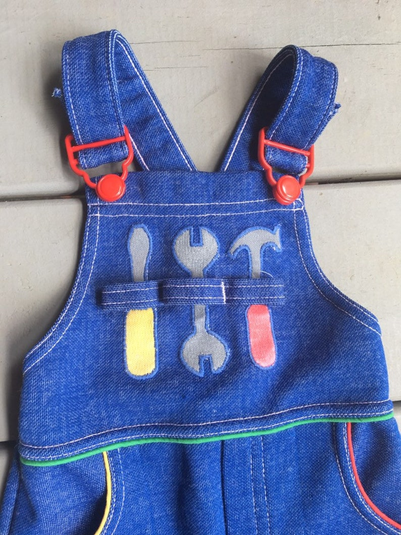 1224mo Vintage Kmart Togs Tool Overalls