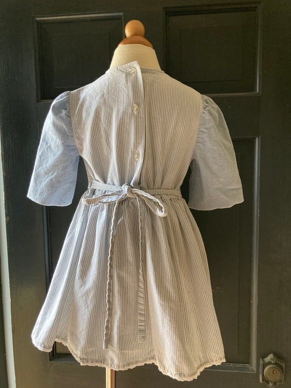 Vintage Light Denim Apron Dress   3/4t - image 3