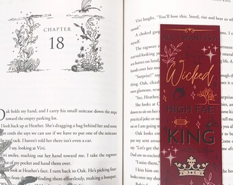 All I Want is a Wicked High Fae King BOOKMARK & BUNDLE option Black white red writer writer bookish bookworm booklover gift