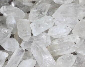 1, 5, 1/2 LB QUARTZ POINTS | Raw Clear Quartz Crystal | Bulk Crystals | Wholesale Crystals | Healing Crystals | Healing Stones | Raw Quartz