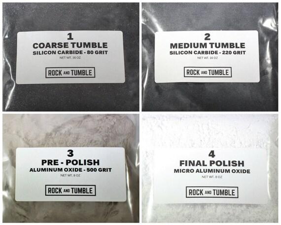 15 Lb Rock Tumbling Grit 4 Stage Kit Rock Tumbler Grit Etsy