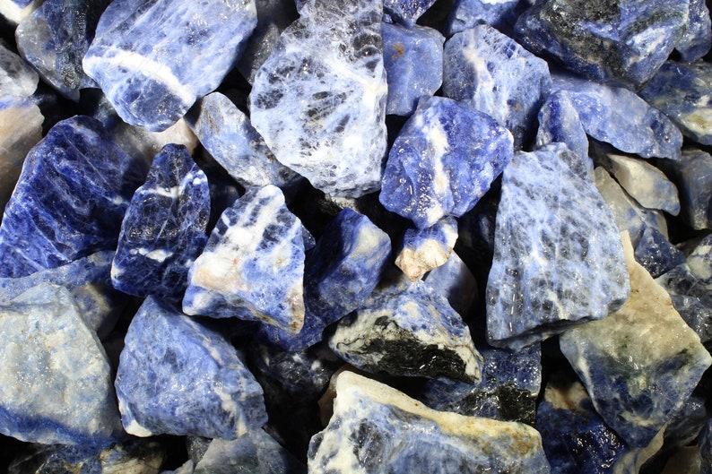 1 LB RAW SODALITE-Rough Sodalite Crystals-Sodalite Bulk-Sodalite  Wholesale-Bulk Crystals-Wholesale Crystals-Rough Rocks-Healing Crystals