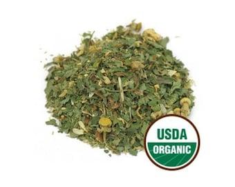 Organic Delightful Tea Loose Leaf Herbal Tea Stress Relief Tea Calming Tea Chamomile Tea