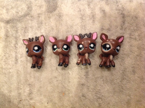 Lps Custom Ooak Deer Set Cool Cute Santas Reindeer Lps Etsy