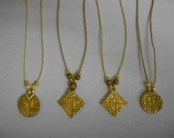 NEW! Handmade Christian Pendants-Necklaces, gold painting, round/square shape, special gift, Baptismal gift, Wedding gift