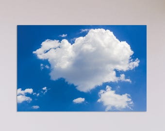 Digital Download Photography | Clouds in Blue Sky |