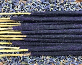 Lavender Holy Smoke All-Natural Honey Resin Ceremonial Incense Sticks floral GREEN Packaging