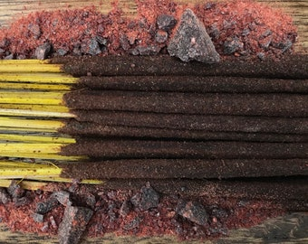 Dragon's Blood Holy Smoke All-Natural Honey Resin Incense Sticks GREEN packaging