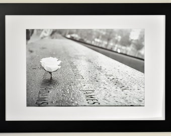 9/11 Memorial Reflecting Pool, NYC photo, Photography, Art Print, Wall Art, Home Decor, Office Decor, Black and White Photograph